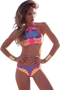 2016 Sporty Tribal Print High Neck Swimsuit Tankini Women CHEEKY Bikini Set L
