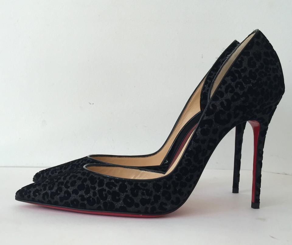 louis vuitton spiked sneakers - Christian Louboutin Iriza 100 Glitter Leopard Print Floque Patent ...