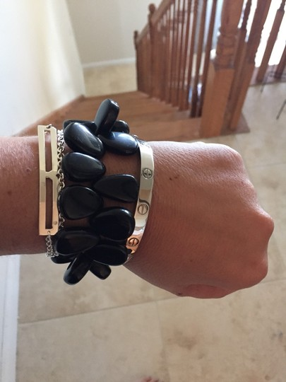 Other Black Bracelet With Antique Look Sterling Silver