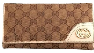 Gucci Gucci GG Leather Canvas Wallet