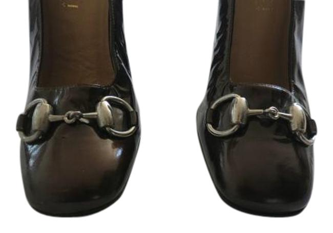 Item - Brown Horsebit Women Front Patent Leather Very Pumps Size US 4.5 Narrow (Aa, N)