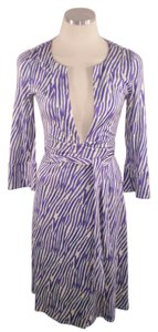 Diane von Furstenberg short dress Purple Melicent Zebra Wrap on Tradesy