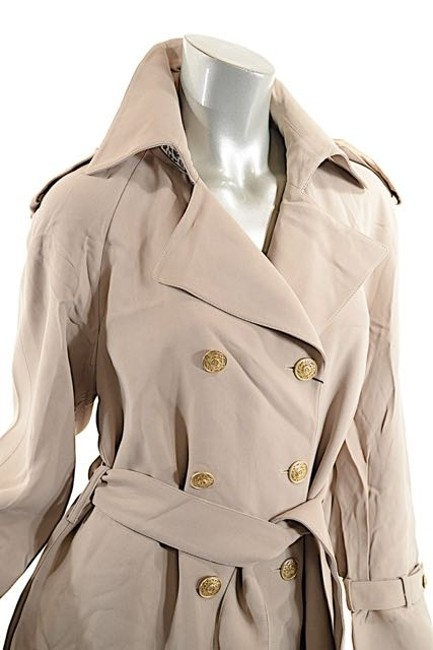 St. John Griffith Gray Trench Coat Image 4