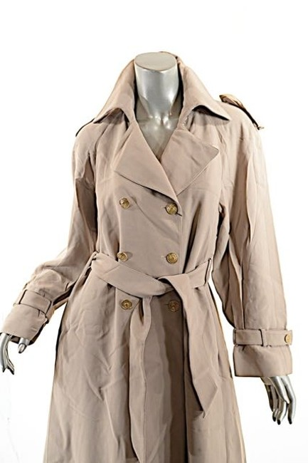 St. John Griffith Gray Trench Coat Image 5