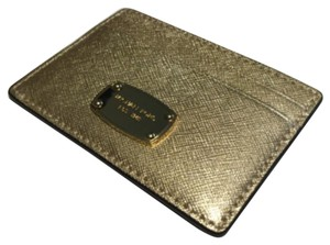 MICHAEL Michael Kors Michael Kors Jet Set Travel Card Case Pale Gold Saffiano Leather