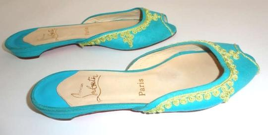 Christian Louboutin Turquoise Flats