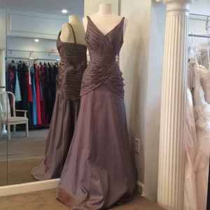 Mori Lee Taupe Iridescent Dress