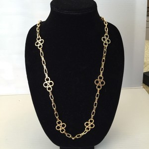 Tory Burch TORY BURCH LARGE CLOVER GOLDTONE NECKLACE