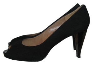 Talbots Peep Toe Heels Black Pumps