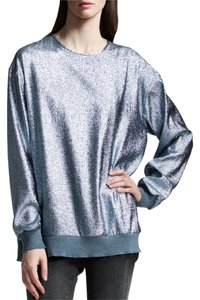 Stella McCartney Gold Sparkly Shirt Tunic Dress Top Metallic Blue Silver