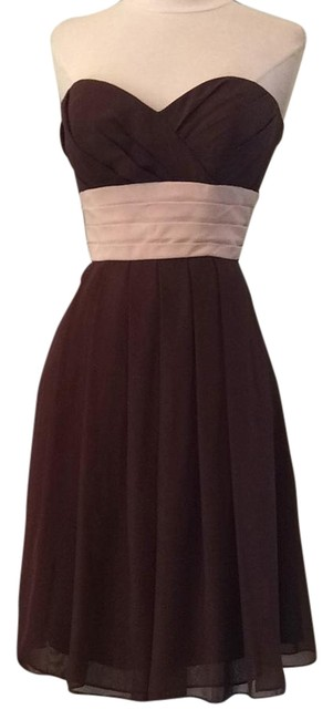 Preload https://img-static.tradesy.com/item/16753036/forever-yours-browncream-a7957-knee-length-cocktail-dress-size-8-m-0-1-650-650.jpg