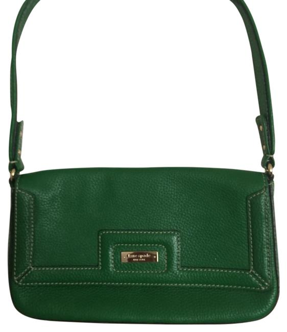 Item - Green Leather Baguette