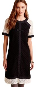 Anthropologie Lace Trim Front Bow Dress