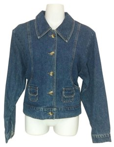 Harvé Benard Denim Jean Longsleeve Cotton Womens Jean Jacket