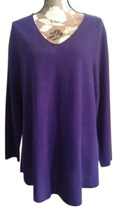 Eileen Fisher Nwt Tunic Wool V-neck Sweater