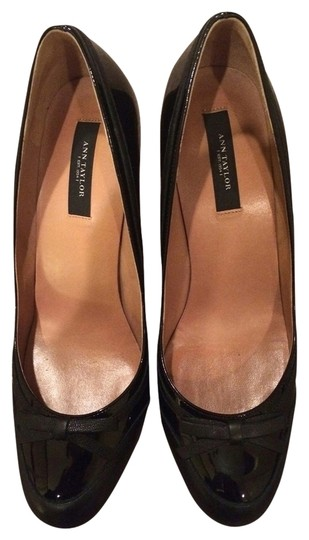 Ann Taylor Patent Leather Stiletto Black Pumps