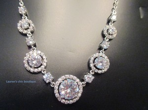 Gorgeous Circle Of Love Crystals Bridal Necklace