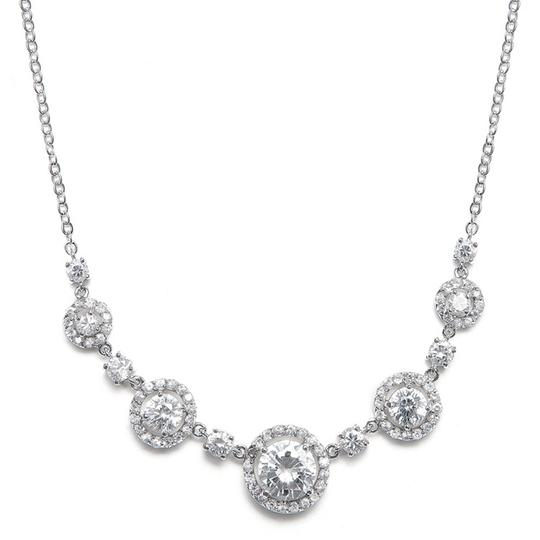 Silver/Rhodium Circle Of Love Crystals Necklace