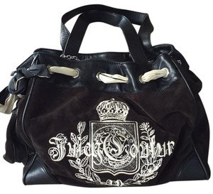 Juicy Couture Satchel in Black with White Lettering