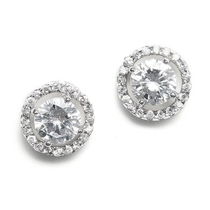 Gorgeous Circle Of Love Radiant Crystal Bridal Earrings