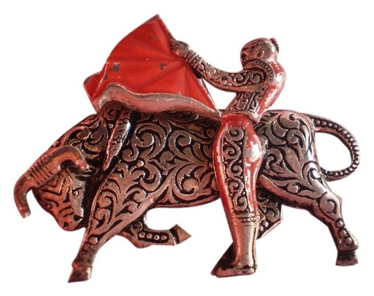 Other Antique Silver Bull Fighter Brooch/Pin
