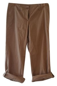 Theory Capri Brown Tan Pant Relaxed Fit Jeans