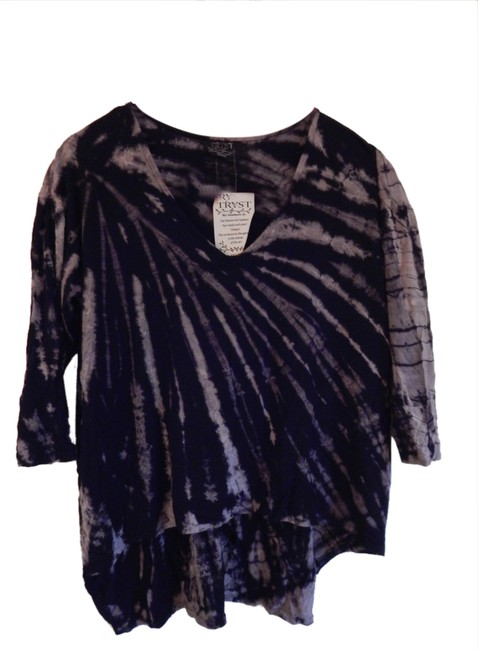Tryst T Shirt Black and Grey