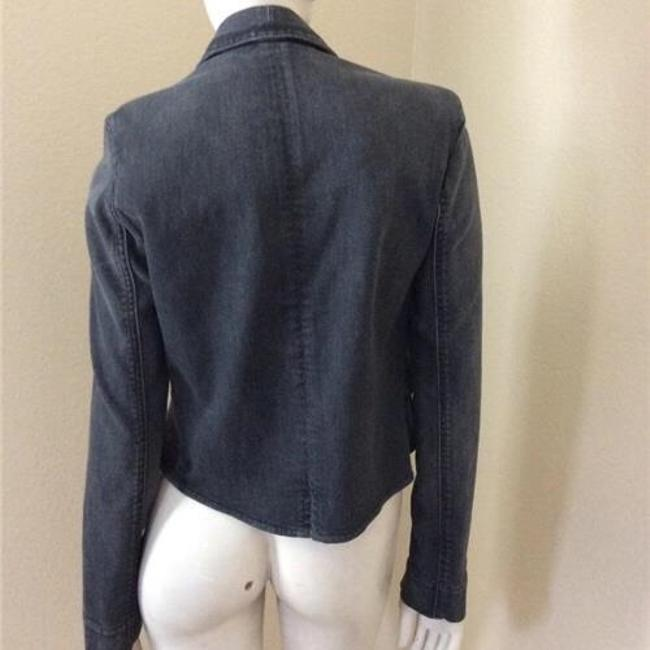 7 For All Mankind Dark Gray Womens Jean Jacket