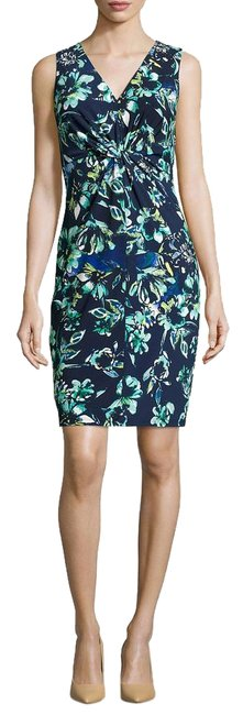 Preload https://img-static.tradesy.com/item/16755913/donna-morgan-iceberg-blue-floral-print-knotted-sleeveless-sheath-knee-length-workoffice-dress-size-1-0-1-650-650.jpg