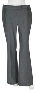 BCBGeneration Flare Leg Flare Pants Light Charcoal Grey Pinstripe
