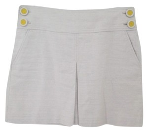J.Crew Pleated Schoolgirl Linen Skirt Beige