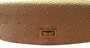 Miztique Casual White and Tan Clutch