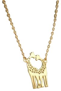Other New Giraffe Necklace, Twin Giraffe necklace in shape of heart