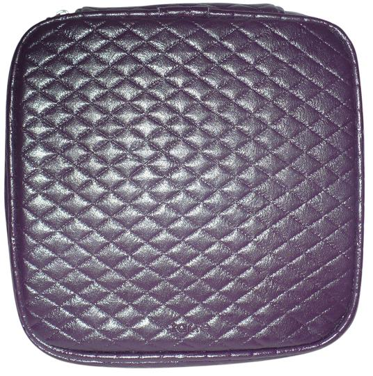 Tarte Faux Leather Purple Quilted Cosmetic Bag