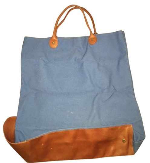 Brooks Brothers Tote in Blue and Tan