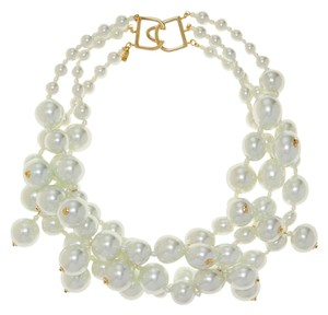 Kenneth Jay Lane Kenneth Jay Lane Faux Pearl Bib Necklace