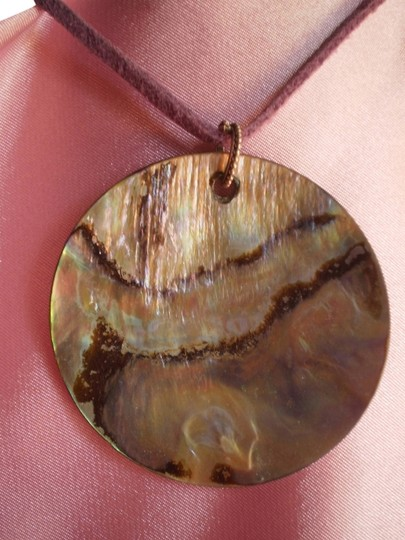 Other Abalone & Silver Necklace