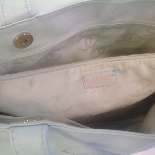 Chanel Oversized Weekend Vintage Tote in White