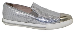 Miu Miu SILVER PATENT Athletic