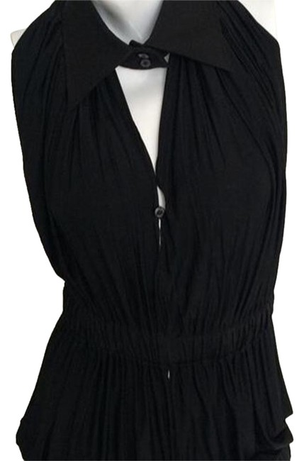Gianfranco Ferre Black Convertible Blouse Size 12 (L) Gianfranco Ferre Black Convertible Blouse Size 12 (L) Image 1