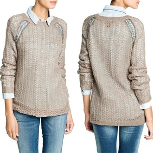 Mango Wool Mohair Metallic Yarn Sheer Sweater