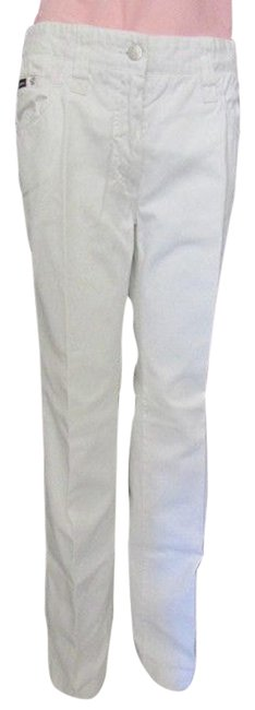 Item - White Dolce & Gabbana Used Women Denim Straight Leg Jeans Size 32 (8, M)