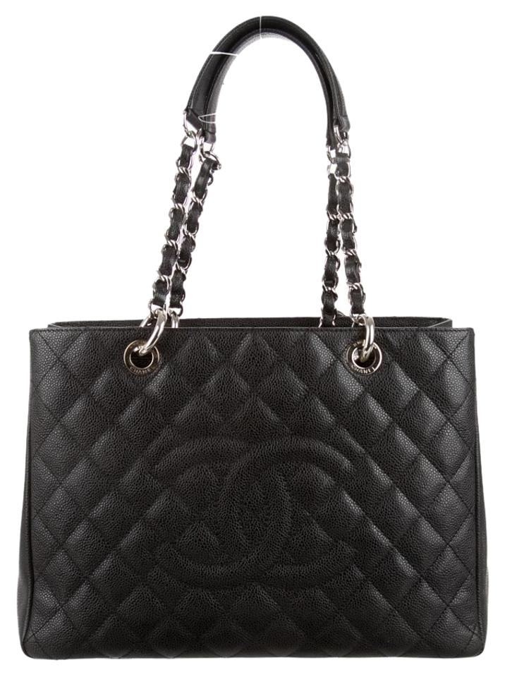 55de431688ce87 Chanel Bag Grand Shopping Gst Quilted Silver Hardware Shw Classic ...