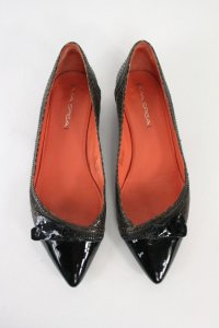 Via Spiga Brown Leather Brown, black Flats