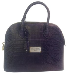 Mario Valentino Crocodile Motif Lock And Keys Shoulder Bag