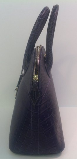 Mario Valentino Crocodile Motif Satchel/Shoulder Lock And Keys Shoulder Bag