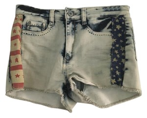 Mossimo Supply Co. Shorts Denim with American Flag