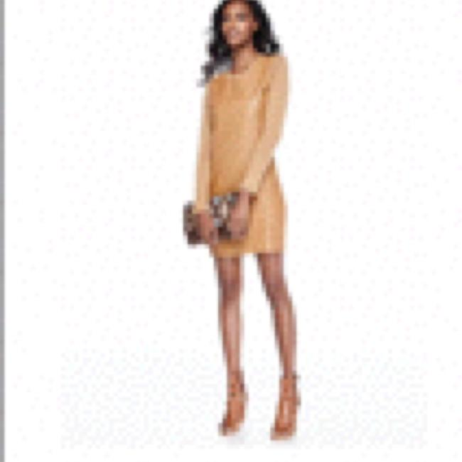 Preload https://img-static.tradesy.com/item/16757809/neiman-marcus-camel-beige-above-knee-night-out-dress-size-6-s-0-0-650-650.jpg