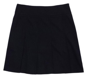 Burberry Black Wool Pleated Skirt
