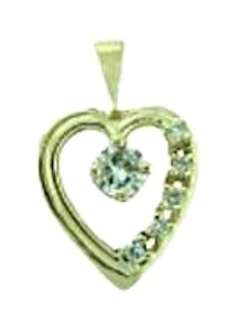 WHOLESALE - 14K 1/3 CTR DIAMOND HEART PENDANT